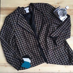 Tweed Long Coat Blazer